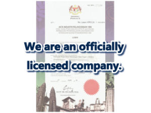 We're an officially licensed company