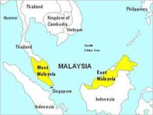 東南アジアの真ん中に位置するマレーシア